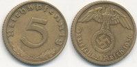 5 Reichspfennig 1936 Mz.D Deutsches Reich, Drittes Reich J.363 ss-vz,  79,99 EUR  Excl. 7,00 EUR Verzending