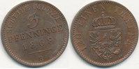 3 Pfenninge 1868 B Altdeutsche Staaten, Preußen,  vz-st,zaponiert,  29,99 EUR  Excl. 4,00 EUR Verzending