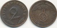 2 Reichspfennig 1936 Mz.F Deutsches Reich, Drittes Reich  vz+,  39,99 EUR  Excl. 7,00 EUR Verzending