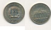 20 Mark 1990 Deutschland,DDR, J.1635 Brandenburger Tor,Cu-Ni, vz-st,  4,99 EUR  zzgl. 1,80 EUR Versand