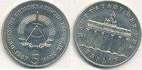 5 Mark, 1987 Deutschland,DDR, J.1536 Brandenburger Tor, vz+,  5,99 EUR  zzgl. 1,80 EUR Versand