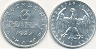 3 Mark 1922 Mz.A Deutsches Reich,Weimarer Republik, J.302 mit Umschrift... 5,99 EUR  zzgl. 1,80 EUR Versand
