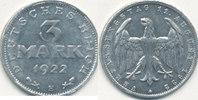 3 Mark 1922 Mz.E Deutsches Reich,Weimarer Republik, J.302 mit Umschrift... 1,99 EUR  zzgl. 1,80 EUR Versand