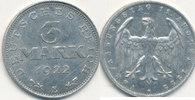 3 Mark 1922 Mz.E Deutsches Reich,Weimarer Republik, J.302 mit Umschrift... 0,99 EUR  zzgl. 1,80 EUR Versand