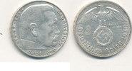 2 Reichsmark 1938 Mz.J Deutsches Reich,Drittes Reich, J.366 Paul von Hi... 4,99 EUR  zzgl. 1,80 EUR Versand