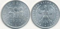 200 Mark 1923 Mz.A Deutsches Reich,Weimarer Republik, J.304 vz-st,  0,99 EUR  zzgl. 1,80 EUR Versand