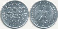 200 Mark 1923 Mz.D Deutsches Reich,Weimarer Republik, J.304 vz-st,  0,99 EUR  zzgl. 1,80 EUR Versand