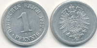 1 Pfennig 1917 Mz.F Deutsches Reich,Kaiserreich, J.300 Alu, vz+,  2,99 EUR  zzgl. 1,80 EUR Versand