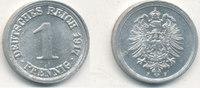 1 Pfennig 1917 Mz.F Deutsches Reich,Kaiserreich, J.300 Alu, vz-st,Präge... 9,99 EUR  zzgl. 1,80 EUR Versand