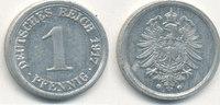 1 Pfennig 1917 Mz.G Deutsches Reich,Kaiserreich, J.300 Alu, vz-st,  5,99 EUR  zzgl. 1,80 EUR Versand