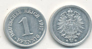 1 Pfennig 1917 Mz.G Deutsches Reich,Kaiserreich, J.300 Alu, st,  9,99 EUR  zzgl. 1,80 EUR Versand