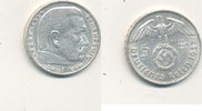 5 Reichsmark 1937 Mz.A Deutsches Reich,Drittes Reich, J.367 Paul von Hi... 11,99 EUR  zzgl. 1,80 EUR Versand