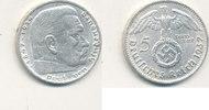 5 Reichsmark 1937 Mz.D Deutsches Reich,Drittes Reich, J.367 Paul von Hi... 12,99 EUR  plus 4,00 EUR verzending