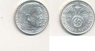 5 Reichsmark 1938 Mz.A Deutsches Reich,Drittes Reich, J.367 Paul von Hi... 11,99 EUR  plus 4,00 EUR verzending