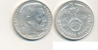 5 Reichsmark 1937 Mz.J Deutsches Reich,Drittes Reich, J.367 Paul von Hi... 13,99 EUR  plus 4,00 EUR verzending
