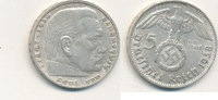 5 Reichsmark 1938 Mz.D Deutsches Reich,Drittes Reich, J.367 Paul von Hi... 12,99 EUR  plus 4,00 EUR verzending