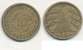 10 Reichspfennig 1935 Mz.E Deutsches Reich,Drittes Reich, J.317 Messing... 1,99 EUR  plus 4,00 EUR verzending