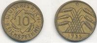 10 Reichspfennig 1935 Mz.G Deutsches Reich,Drittes Reich, J.317 Messing... 1,99 EUR  plus 4,00 EUR verzending