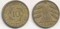 10 Reichspfennig 1936 Mz.A Deutsches Reich,Drittes Reich, J.317 Messing... 0,99 EUR  plus 4,00 EUR verzending