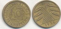 10 Reichspfennig 1936 Mz.A Deutsches Reich,Drittes Reich, J.317 Messing... 1,99 EUR  plus 4,00 EUR verzending
