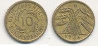 10 Reichspfennig 1936 Mz.D Deutsches Reich,Drittes Reich, J.317 Messing... 0,99 EUR  plus 4,00 EUR verzending