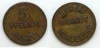 5 Pfennig  Deutsches Reich Merseburg, Gustav Brandt ss  34,99 EUR  Excl. 7,00 EUR Verzending