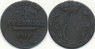 4 Pfennige 1810 Altdeutschland Sachsen Saalfeld s-ss  39,99 EUR  Excl. 7,00 EUR Verzending