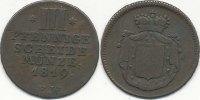 3 Pfennige 1819 Altdeutschland Waldeck s-ss  29,99 EUR  zzgl. 1,80 EUR Versand