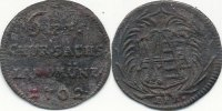 Altdeutschland 6 Pfennig 1702 EPH ss Sachsen, Roter Seufzer 49,99 EUR 