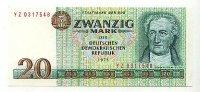 20 Mark 1975 Deutschland Ro.362d leicht gebraucht II+  49,99 EUR  zzgl. 4,00 EUR Versand