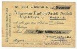 5 Mio.Mark 1.September 1923 Sachsen Burgstädt gebraucht III-  29,99 EUR  Excl. 4,00 EUR Verzending