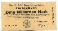 10 Mrd. Mark 24.Oktober 1923 Sachsen Markneukirchen gebraucht III  29,99 EUR  zzgl. 1,80 EUR Versand