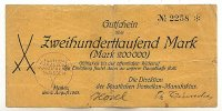 200ooo Mark 2.August 1923 Sachsen Meißen stark gebraucht IV-  49,99 EUR  Excl. 7,00 EUR Verzending