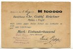 100ooo Mark 2.Aug. 1923 Sachsen Mylau stark gebraucht IV-  49,99 EUR  zzgl. 4,00 EUR Versand
