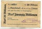 20 Mio.Mark 14.September 1923 Sachsen Oederan stark gebraucht IV  49,99 EUR  Excl. 7,00 EUR Verzending