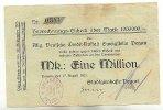 1 Mio. Mark 17.August 1923 Sachsen Pegau gebraucht III  29,99 EUR  Excl. 4,00 EUR Verzending