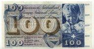 100 Franken 4.Oktober 1957 Schweiz  gebraucht III+  49,99 EUR  Excl. 7,00 EUR Verzending
