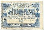 10 Pesos (1865) Paraguay  stärker gebraucht IV+  149,99 EUR  Excl. 10,00 EUR Verzending