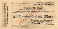 500ooo Mark 10.August 1923 Sachsen Plauen gebraucht III-  39,99 EUR  Excl. 7,00 EUR Verzending