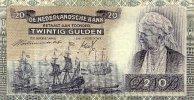 20 Gulden 19.3. 1941 Niederlande altes Datum überdruckt gebraucht III  179,99 EUR  Excl. 10,00 EUR Verzending