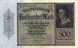 Deutsches Reich 500 Mark 27.März Ro.70