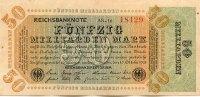 50 Mrd.Mark 10.Oktober 1923 Deutsches Reich Ro.117a Wz.Hakensterne KN 5... 34,99 EUR  Excl. 7,00 EUR Verzending