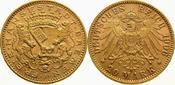 Bremen 20 Mark  Gold 1906 J Vorzüglich - S...