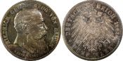 PCGS certified 5 Mark 1907 Baden Friedrich...