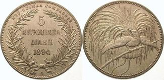 5 Mark 1894  A Neuguinea  Vorzüglich - Ste...