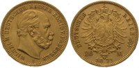 Preuen 20 Mark  Gold 1871 A Winz. Kratzer...