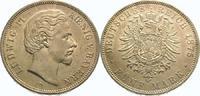 5 Mark 1875  D Bayern Ludwig II. 1864-1886. Vorzüglich - Stempelglanz  575,00 EUR kostenloser Versand