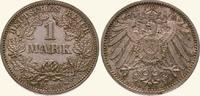 1 Mark 1910  D Kleinmünzen  Winz. Randfehler, fast Stempelglanz  15,00 EUR