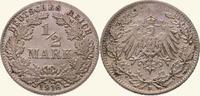 1/2 Mark 1916  D Kleinmünzen  Fast Stempelglanz  10,00 EUR
