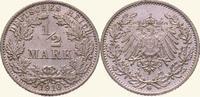 1/2 Mark 1916  G Kleinmünzen  Fast Stempelglanz  15,00 EUR